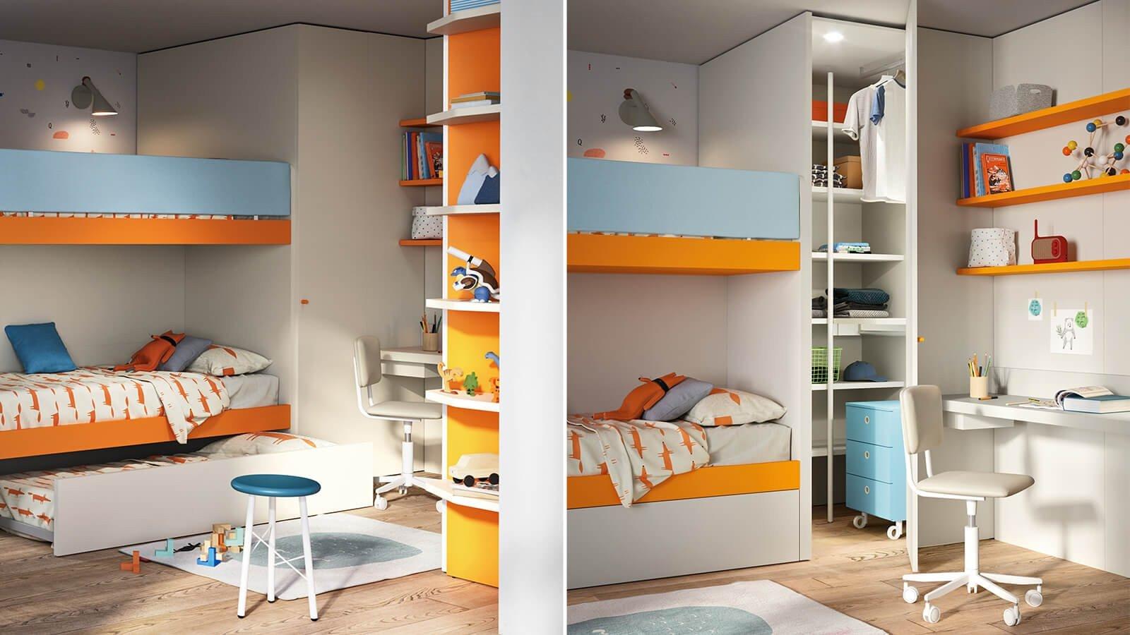 Cabina armadio Cabì per camerette per bambini Nidi