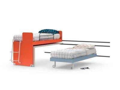 Scroll sliding bed