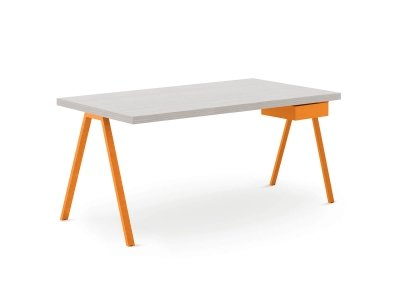 Under-desk swing-out tray