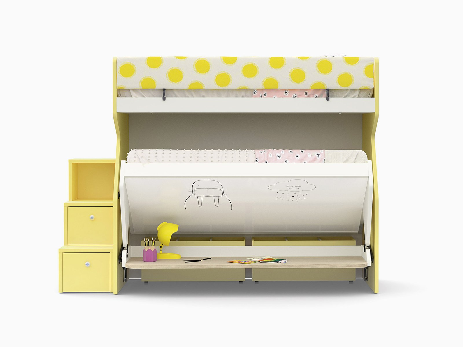 Tippy bunk bed